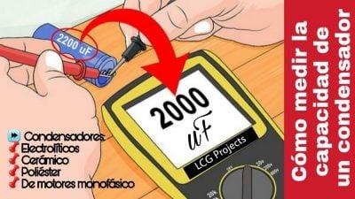 como medir capacitor